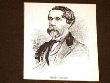 Scrittore e senatore Giulio Carcano Milano, 7 agosto 1812 – Lesa, 30 agosto 1884