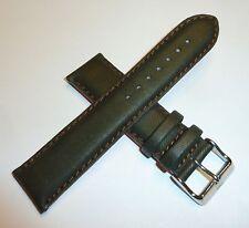 TechnoMarine Nylon Watch Strap Band 22MM Dark Olive Green & Orange - 7808 NEW!