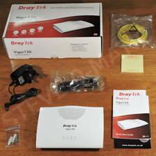 More details for draytek vigor 130 vdsl2/adsl2+ modem fttc, gigabit ethernet vgc