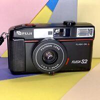 Fuji Flash S2 35mm Point & Shoot Camera, Film Tested Working Order! Lomo Retro