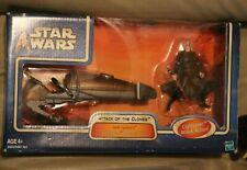 Star Wars Dooku Geonosian Speeder bike 3.75 inch Count Darth Tyranus AOTC clone