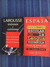 Diccionarios Larousse Sinónimos y Antónimos & Espasa de la lengua española