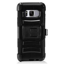 Hybrid Hard Case Soft Cover+Belt Clip Holster  For Samsung Galaxy S8 G950