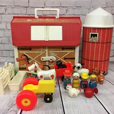 Vintage Fisher Price Little People Play Family Farm Barn #910 UK European + Silo