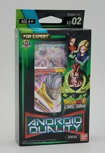 Dragon Ball Super CCG XD02 Android Duality Expert Deck New