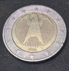2 Euro coin From 2002. F Germany; RARE COIN !