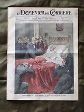 La Domenica del Corriere 30 Agosto 1914 Morte Pio X Guerra europea Salma Pio X