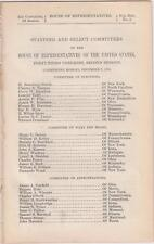 A List of Committees of The House of Representatives in the 43rd Congress 1874