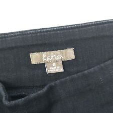 Katies 3 Quarter Elastic Waist Black Stretch Denim Jeans Women's Size 8