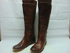 Frye Paige Tall Riding Equestrian 77535 Womens Brown Oiled Leather BOOTS Size 9