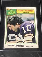 1977 Topps Fran Tarkenton Minnesota Vikings #454 Football Card