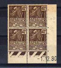 FRANCE YVERT n° 271 neuf avec charnière - bloc de 4 coin daté