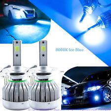 COB H4 9003 HB2 LED Headlight Conversion Bulb High 8000k Ice Blue For Acura GMC
