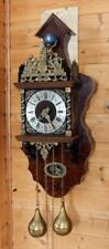 Beautiful  Dutch Zaanse Wall Clock Hermle movement Burlwood (ZA 15)