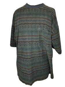Vintage 90s Ocean Pacific Striped Pocket T-Shirt MedIum OP Mens Winter Surf