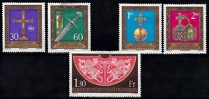 Liechtenstein 1975 Imperial Insignia Set Mounted Mint