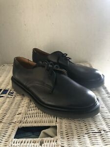 Solovair Black Leather Shoes UK 10 *New No Box*