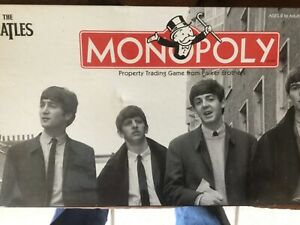 Parker Brothers The Beatles Monopoly Game For Parts
