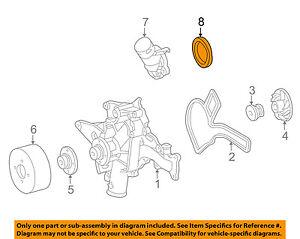 MERCEDES OEM 03-09 G55 AMG-Engine Water Pump Gasket 1122030076