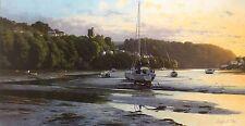 """Peter symonds """"eventide"""" estuaire bateaux signé ltd ed! taille: 49cm x 82cm neuf rare"""