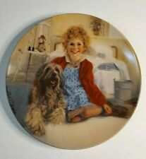Little Orphan Annie First Issue Collector Plate. Knowles 1982