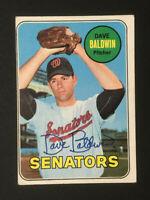 Dave Baldwin Senators signed 1969 Topps baseball card #132 Auto Autograph