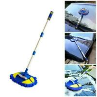 Microfiber Car Brush Wash Mop Mitt Extendable Handle Vehicle Washing V9P3
