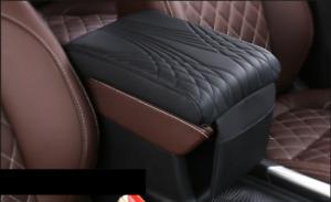 1 Pcs Black PU Leather Car Armrest Pad Cover Auto Console Interior Mat Universal