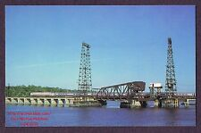 Lmh Postcard 1979 Amtrak Senator Train Pelham Bay Draw Bridge Amtk E60 #963