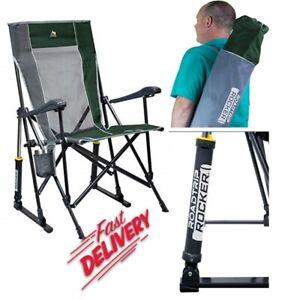 GCI Outdoor RoadTrip Rocker Outdoor Rocking Chair For Camping & Beach, Hunter