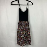 Victoria's Secret PINK Black & Floral Dress Spaghetti Strap Women's Size Medium