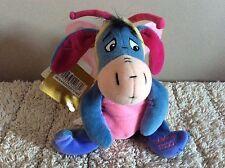 "Bnwt Disney Store Mini Bean Bag Butterfly Eeyore 8""  Soft Toy  Plush Easter 2000"