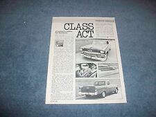 """1956 Chevy Custom El Camino Article """"Class Act"""" ---From 1984--- Wagon"""
