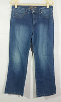 Bill Blass Womens Jeans Size 8 Blue Circular Fit Bootcut Stretch Medium Wash