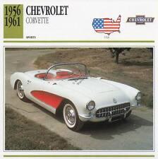 1956-1961 CHEVROLET CORVETTE Sports Classic Car Photo/Info Maxi Card