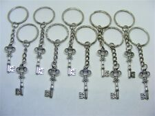 10 x Gothic Key Lucky Charm Keyrings - Wholesale Job Lot Bulk Buy UK