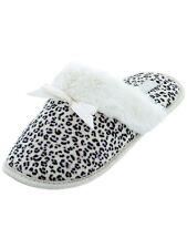 IZOD Beige Leopard Slippers for Women Slip On Scuff Animal Print