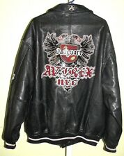 Vintage Avirex Vanguard NYC Limited Edition Black Leather Bomber Jacket 2XL