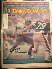 """ NFL Dallas Cowboys Official Weekly Magazine October, 4, 1980; Vol. 6, No. 16"