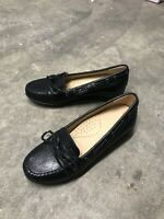 Geox Respira Navy Blue Leather Boat Shoes Casual Brand New Size 2.5 Uk B36