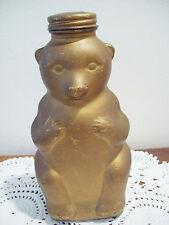 Vintage Snow Crest Beverages Glass Honey Bear Bottle Jar Bank