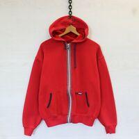 Vintage Polo Sport Ralph Lauren Full Zip Sweatshirt Hoodie Red Size Medium