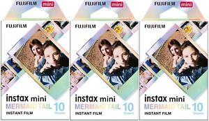 3 Fujifilm Instax Mini Mermaid Tail Instant Color Film, 30 Exposures