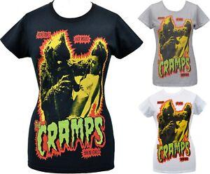 The Cramps Womens PSYCHOBILLY T-Shirt Garage Punk Creature Monster Bikini Girls