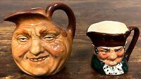 Set of 2 VTG Royal Doulton Toby Jug Creamers – Old Charley & John Barleycorn 126