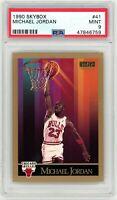 Michael Jordan Chicago Bulls 1990 Skybox Basketball Card #41 Graded PSA 9
