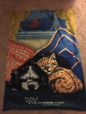 Cat and Dog Polyester Lightweight Throw Blanket: 34 x 46 Inches