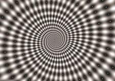 Hypnotic espiral ilusión óptica A3 Impresión Cartel GZ145
