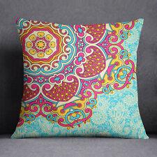 S4Sassy Mandala Print Multicolor Cushion Case Decorative Square Pillow Cover