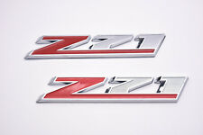 2 Chevy GMC Z71 Front Door Emblem Sport Badge Red White Chrome New